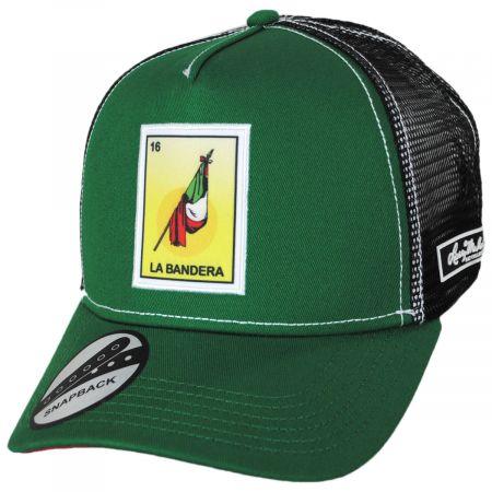 Larry Mahan Hats Loteria La Bandera Trucker Snapback Baseball Cap