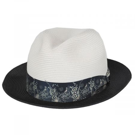 Stacy Adams Haring Two-Tone Braided Trilby Fedora Hat
