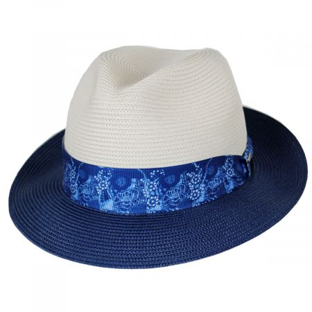 Haring Two-Tone Braided Trilby Fedora Hat alternate view 5