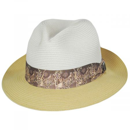 Haring Two-Tone Braided Trilby Fedora Hat alternate view 9
