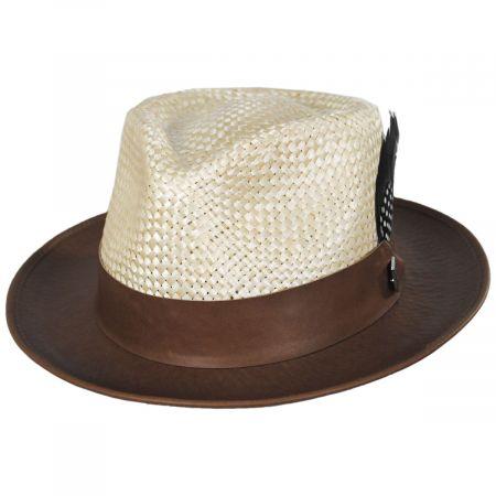 Stacy Adams Banksy Bao Straw Trilby Fedora Hat