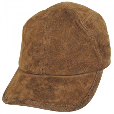 Cascade Suede Leather Fitted Baseball Cap alternate view 5