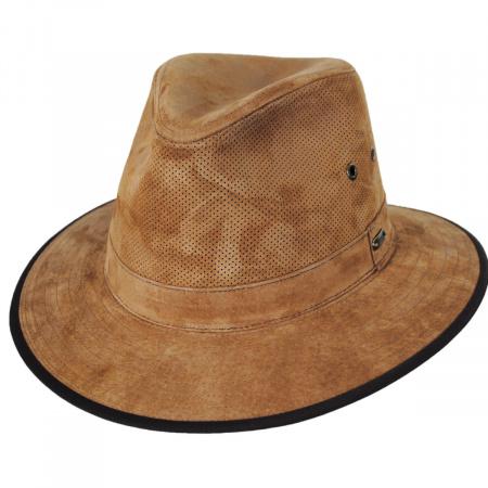 Chelan Suede Leather Safari Fedora Hat alternate view 5
