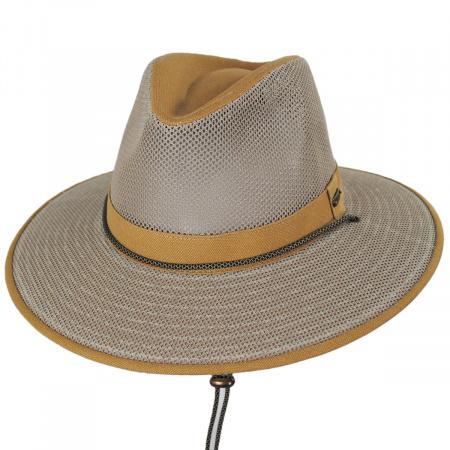 Sawatch Mesh and Cotton Canvas Aussie Fedora Hat