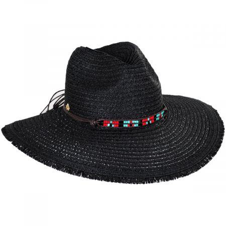 Aylen Braided Toyo Straw Blend Safari Fedora Hat