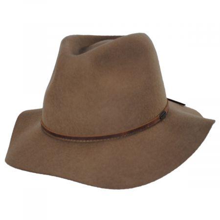 Wesley Tan Wool Felt Fedora Hat