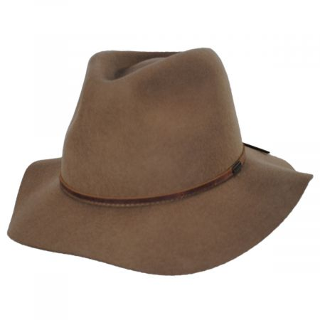 Brixton Hats Wesley Tan Wool Felt Fedora Hat