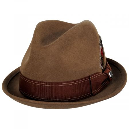 Brixton Hats Gain Copper Wool Felt Fedora Hat