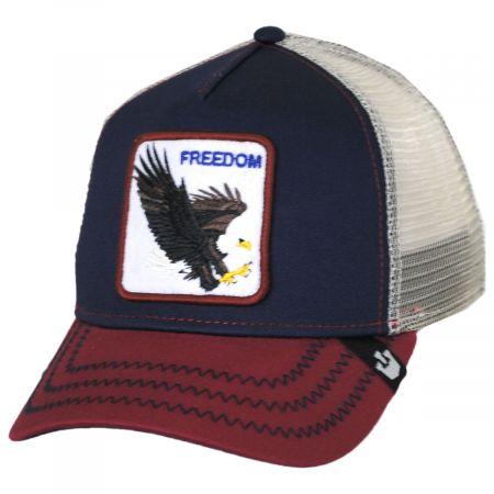 Freedom Mesh Trucker Snapback Baseball Cap alternate view 5