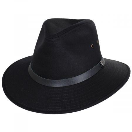 Black Cotton Safari Fedora Hat