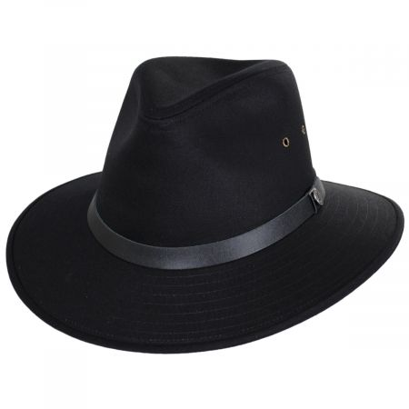 Black Cotton Safari Fedora Hat alternate view 17