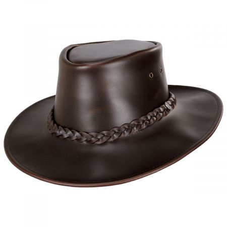 Crusher Leather Outback Hat alternate view 5