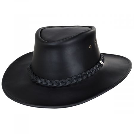 Jaxon Hats Crusher Leather Outback Hat