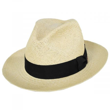Goorin Bros Puerto Lopez Twisted Panama Straw Fedora Hat