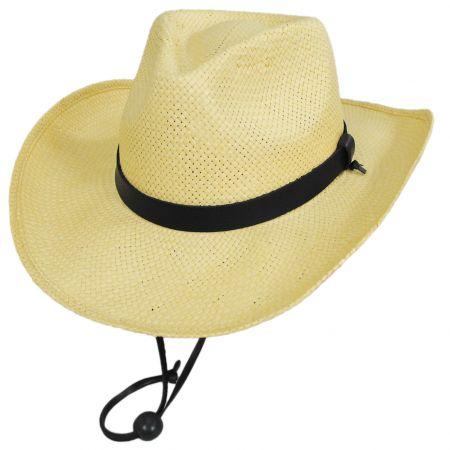 Jaxon Hats El Cajon Toyo Straw Western Cowboy Hat