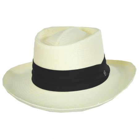 Toyo Straw Gambler Hat - Black Band