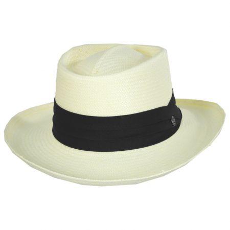 Jaxon Hats Toyo Straw Gambler Hat - Black Band