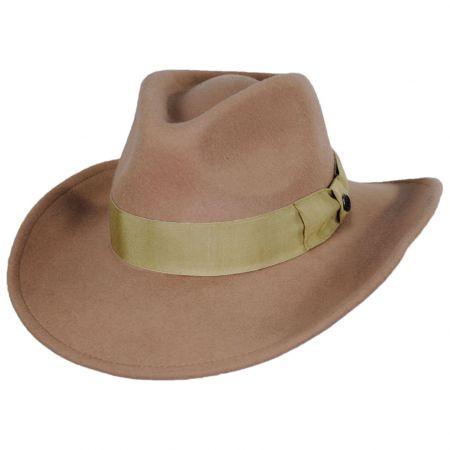 Colorado Ultra Wide Brim Wool Felt Fedora Hat alternate view 26