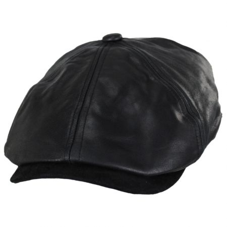 Leather Suede Newsboy Cap alternate view 17