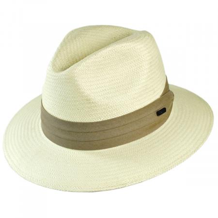 Toyo Straw Safari Fedora Hat - Khaki Band alternate view 25