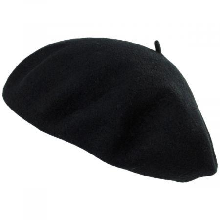 Brixton Hats Audrey Black Wool Beret