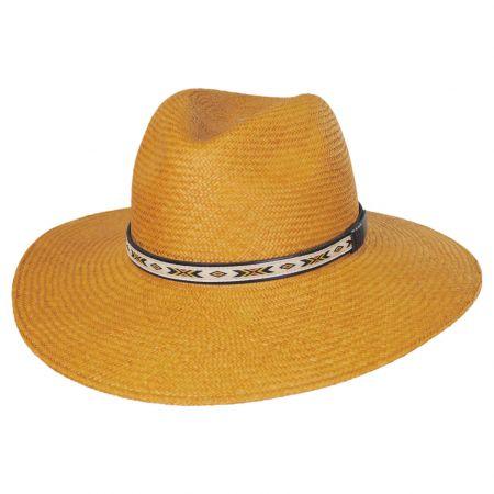 Southwest Panama Straw Wide Brim Fedora Hat alternate view 13