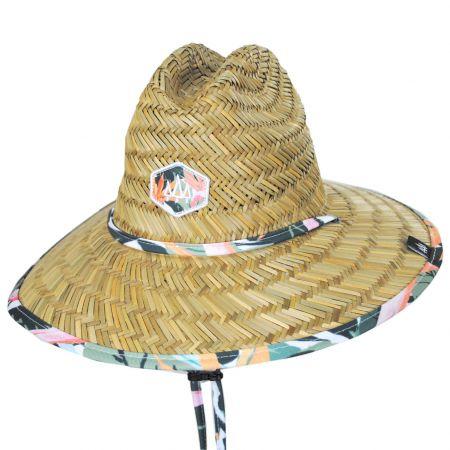 Hemlock Hat Co Kids' Bloom Straw Lifeguard Hat