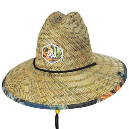 Hemlock Hat Co Canopy Straw Lifeguard Hat