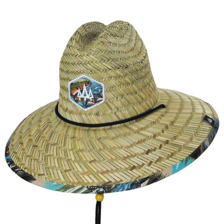 Hemlock Hat Co Dry Fly Straw Lifeguard Hat