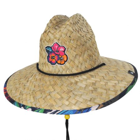 Hemlock Hat Co Kona Straw Lifeguard Hat