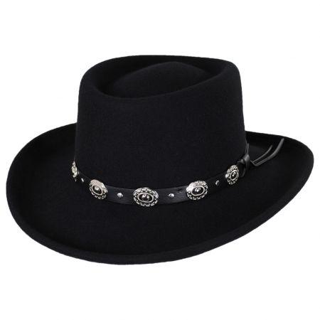 Crossfire Wool Felt Gambler Hat