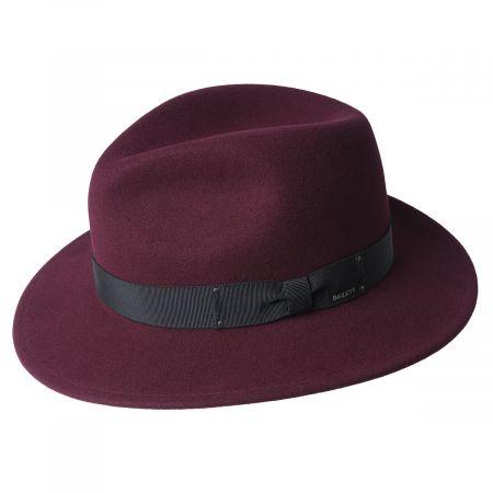Curtis Wool Felt Safari Fedora Hat alternate view 65