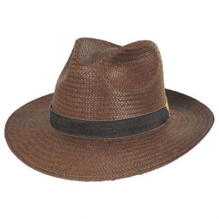 Rothney Raindura Straw Fedora Hat