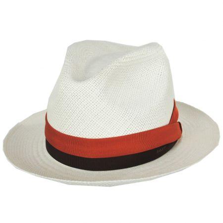 Cuban Panama Straw Fedora Hat