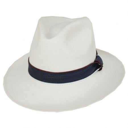 Relik Shantung Straw Fedora Hat