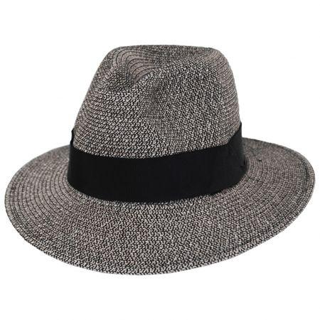 Mullan Toyo Straw Blend Safari Fedora Hat