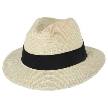 Bailey Mullan Toyo Straw Blend Safari Fedora Hat