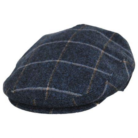 Jaxon Hats Gaslamp Windowpane Plaid Wool Blend Ivy Cap