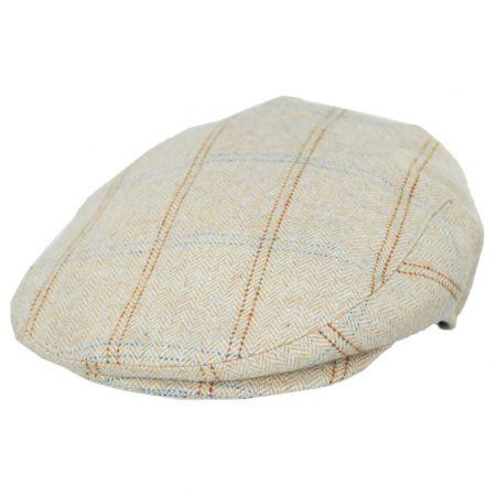Jaxon Hats Skyline Herringbone Overcheck Wool Blend Ivy Cap