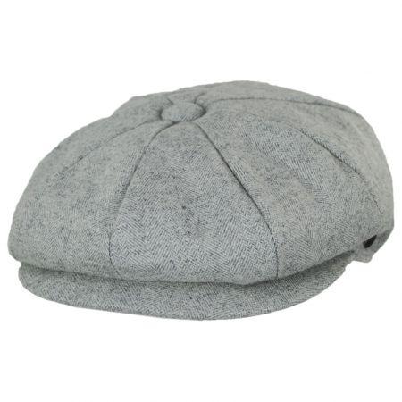 Jaxon Hats Tecolote Herringbone Wool Blend Newsboy Cap