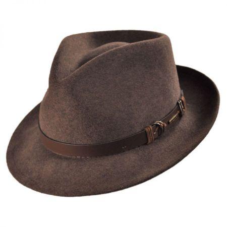Stetson Goswell Crusher Fedora Hat