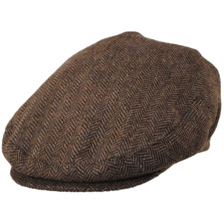 Jaxon Hats Bird Rock Herringbone Wool Blend Ivy Cap