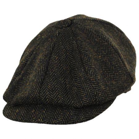 Jaxon Hats Bird Rock Herringbone Wool Blend Newsboy Cap
