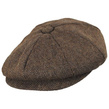 Bird Rock Herringbone Wool Blend Newsboy Cap
