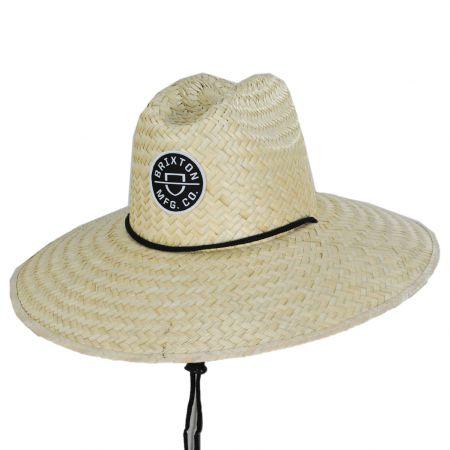 Crest Palm Leaf Straw Lifeguard Hat alternate view 6