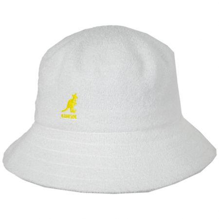 Kangol White Yellow Terry Cloth Bermuda Lahinch Bucket Hat