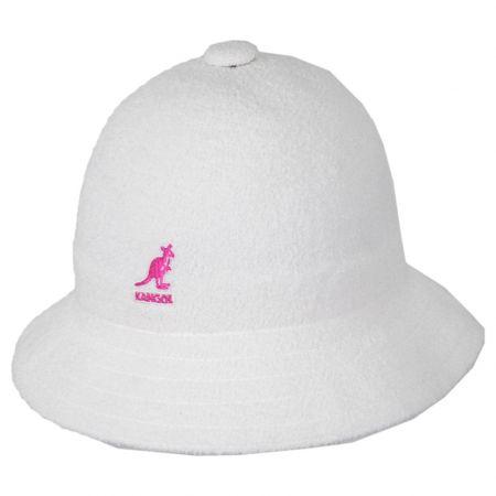 Kangol White Pink Terry Cloth Bermuda Casual Bucket Hat