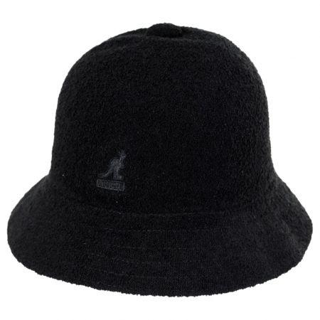 Black Terry Cloth Bermuda Casual Bucket Hat