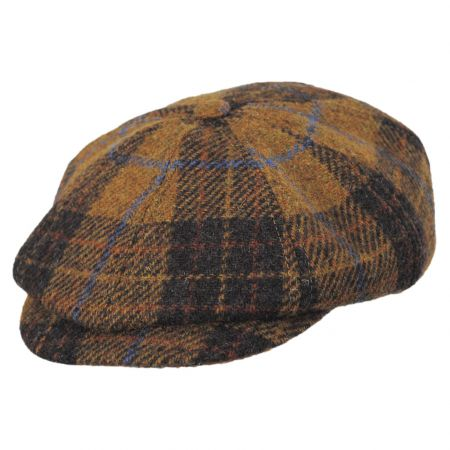 Stefeno Hamilton Harris Tweed Plaid Wool Newsboy Cap