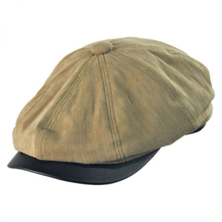 Woolrich Twill Newsboy Cap with Earlap